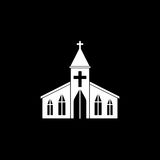 Church solid icon, religion building elements. Religious sign, a filled pattern on a black background, eps 10 vector illustration