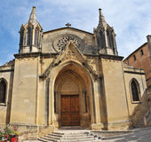 Church of Sommieres. Church of Sommiere, little town in Languedoc Roussillon, France stock photo