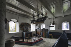 Church in Sonderho, Fano, Denmark Royalty Free Stock Photo