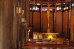 Church songyae. Wooden church at yasothon province Stock Photography
