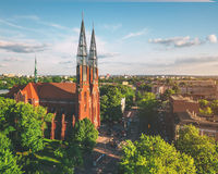 Church in Sosnowiec. One of the most characteristic objects in Sosnowiec-Pogoń, Poland Royalty Free Stock Photos