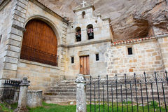 Church of Sotoscueva, Burgos. Castilla y Leon, Spain stock photo