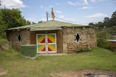 Church in a South African township. A rastafarian church in a South African township in Knysna, in the South of South Africa stock images