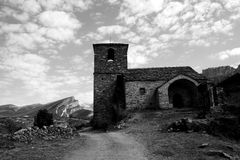 Church in Spain. Church in the Spanish mountains Royalty Free Stock Photography