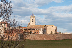 Church in Spain. Rural church with belfry in Spain Royalty Free Stock Photography