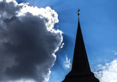Church spear on blue sky background Stock Images