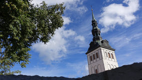 Church spike. In the summer in Tallinn a beautiful church spike Royalty Free Stock Images