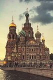 Church on Spilled Blood in the late evening at twilight. Saint Petersburg. Russia Stock Photo