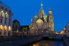 Church on Spilled Blood Stock Photo