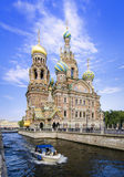 Church of the Spilled Blood in St Petersburg Stock Image