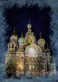Church on Spilled Blood in Saint Petersburg, Russia. One of the most beautiful churches in Russia is among main tourist attractions of Saint-Petersburg. Modern Stock Photos