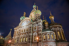 Church on Spilled Blood in Saint Petersburg Stock Image
