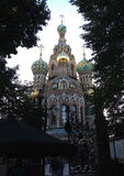 Church of the spilled blood in Saint Petersburg russia. Russian cathedral built on the site of the assassination of Alexander I I in st. Petersburg russia Royalty Free Stock Photos