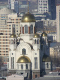 Church on the Spilled Blood view from above. Ekaterinburg. Russia. Royalty Free Stock Photography