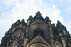 Church spire. A church spire seen from the frog perspective Stock Photos