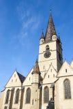 Church with spire Stock Photos