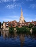 Church spire, Abingdon, England. Saint Helens Church and River Thames, Abingdon, Oxfordshire, England, United Kingdom, Western Europe royalty free stock photos