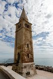 Church spire in Caorle Italy Stock Photo