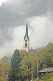 Church Spire in the Mountains Royalty Free Stock Photos