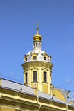 Church spire in the Peter and Paul Fortress in St. Petersburg Stock Photo