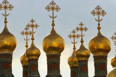 Free Church Spires At The Kreml In Moscow Stock Photo - 167043890