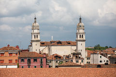 Church Spires with Domes in Venice Royalty Free Stock Photo