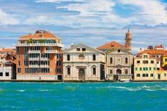 Church Spirito Santo in Venice, Italia. View from the sea to church Spirito Santo in Venice, Italia Stock Photo