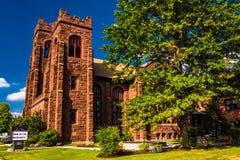 Church in Spring Grove, Pennsylvania. Stock Photo