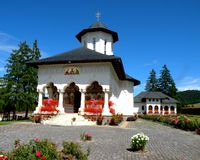 The church of Spring Mures orthodox monastery, Transilvania Stock Photography