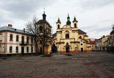 Church Square Ivano-Frankivsk city. Church Square - in every city there is such, regardless of what its real name, because for residents it is - all the same royalty free stock photo