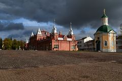 The church on the square, Moscow. Russia. royalty free stock photos