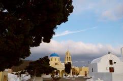 Church. A church square in oia Stock Photo