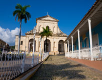 Church and square in Trinidad, Cuba Royalty Free Stock Photo