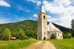 Church in Srednja vas near Semic, Slovenia. Royalty Free Stock Photo
