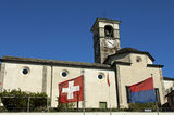 Church of SS Pietro e Paolo Brissago, Ticino, Switzerland Royalty Free Stock Image