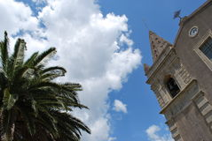 The Church of SS. Trinity in Forza d`Agro. Sicily Stock Photography