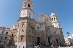 Church Of Ssn Juan De Dios Cadiz Andalucia, Spain. Facade And Blue Sky Church Of San Juan De Dios Cadiz Andalucia, Spain Royalty Free Stock Photography