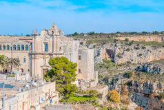 Church of St. Agostino. Matera in Italy UNESCO European Capital of Culture 2019 Royalty Free Stock Image