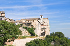 Church of St. Agostino. Narni. Umbria. Italy. Stock Photography
