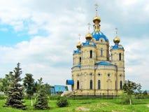 Church of St. Alexander Nevsky. Church of the most Orthodox Prince St. Alexander Nevsky (location: Lugansk, Ukraine royalty free stock photos