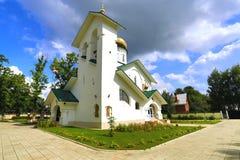 Church of St. Alexander Nevsky. Ashukino village. Stock Photo