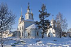 Church of St. Alexander Nevsky and Saint Sophia Cathedral in the city of Vologda Royalty Free Stock Image