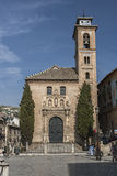 Church of St. Ana and St. Gil. Mudejar Church, Granada, Andalusi Stock Image