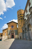 Church of St. Andrea. Orvieto. Umbria. Italy. Perspective of the Church of St. Andrea. Orvieto. Umbria. Italy Stock Photography