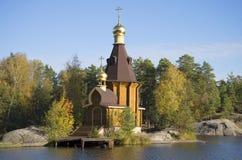 The Church of St. Andrew the Apostle on Vuoksi river. Leningrad region Royalty Free Stock Images