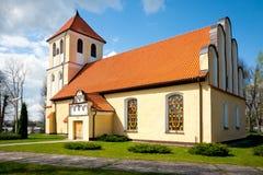 Church of St Andrew Bobola - Rydzewo royalty free stock photo