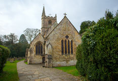 THe church of St Andrew in Castle Combe Royalty Free Stock Photos