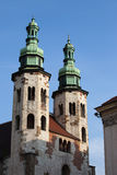 Church of St. Andrew in the Old Town of Krakow Stock Image