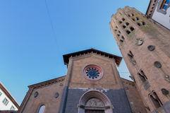 Church of St. Andrew in Orvieto Royalty Free Stock Images