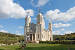 Church of St. Andrew, Romania. The temple is located about 30 kilometers from the city vyuzhnata Island of Romania Royalty Free Stock Image